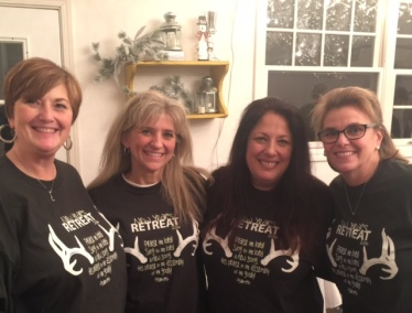 """Retreats """"need"""" matching T-shirts. Some beautiful God ordained, friendships come form surprising places."""
